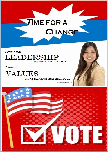 Campaign Flyer Template Free Fresh Campaign with these Elegant Free Political Campaign Flyer