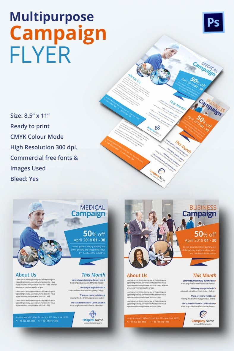 Campaign Flyer Template Free Inspirational Campaign Flyers – 34 Free Psd Ai Vector Eps format