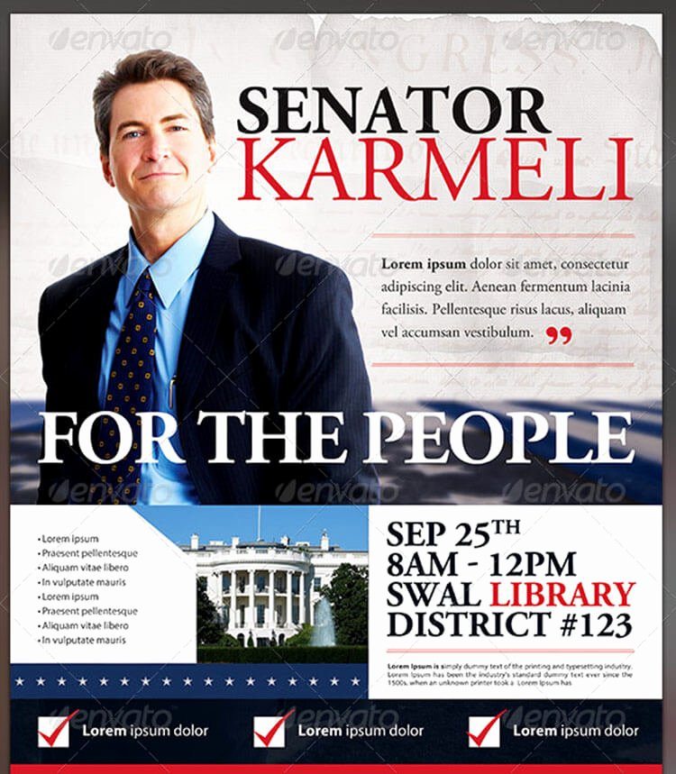 Campaign Flyer Template Free Luxury Election Flyers Templates Free Yourweek 5971c5eca25e
