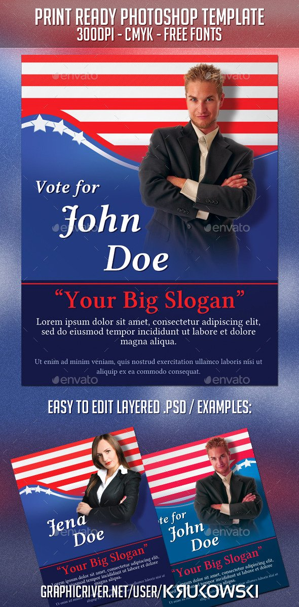 Campaign Flyer Template Free Luxury Vice President Election Poster Templates Chreagle