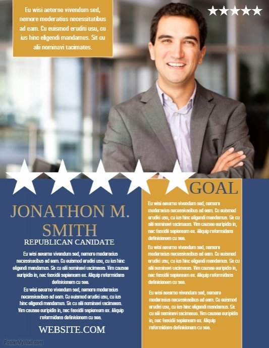 Campaign Flyer Template Free New Campaign Template