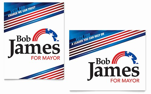 Campaign Poster Template Free Best Of Political Campaign Business Card & Letterhead Template