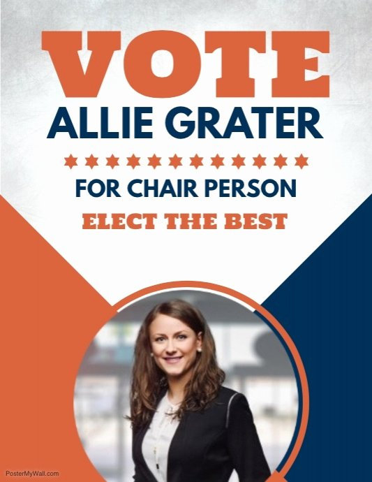 Campaign Poster Template Free Lovely Copy Of Run for Chair Person Election Flyer Template
