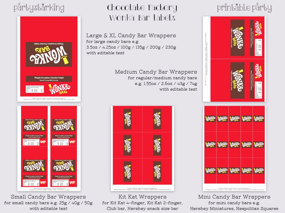 Candy Bar Label Template Inspirational Wonka Bar Labels Wonka Bar Candy Bar Label Willy Wonka