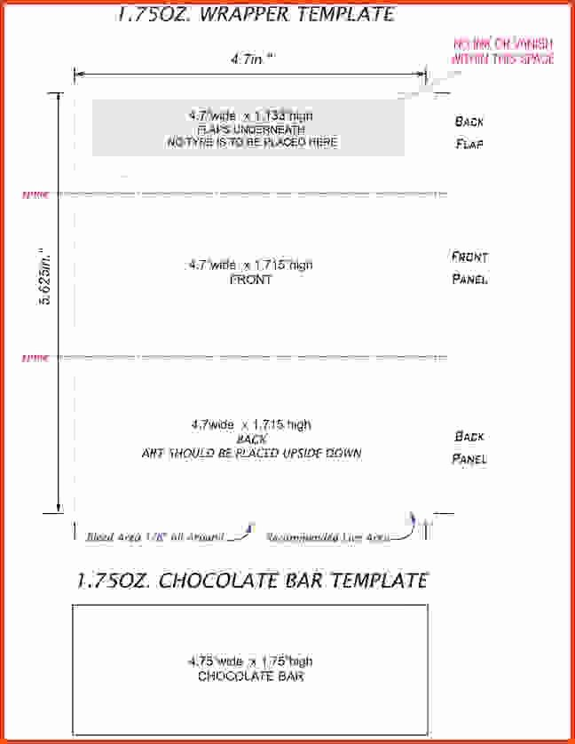 Candy Bar Wrapper Template Inspirational Hershey Bar Wrapper Template