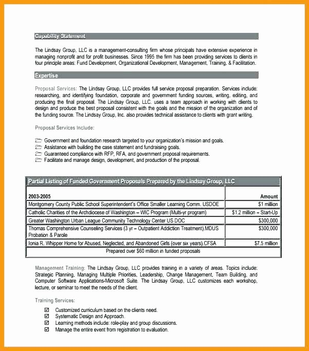 Capability Statement Template Doc Awesome Statement Template Free Word Documents Download Capability