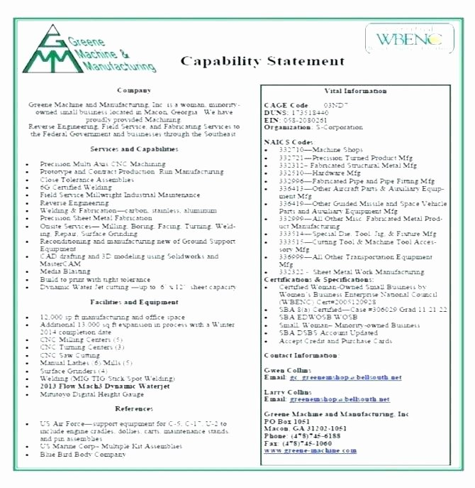 Capability Statement Template Doc Inspirational Capability Statement Template Doc – Tsurukame