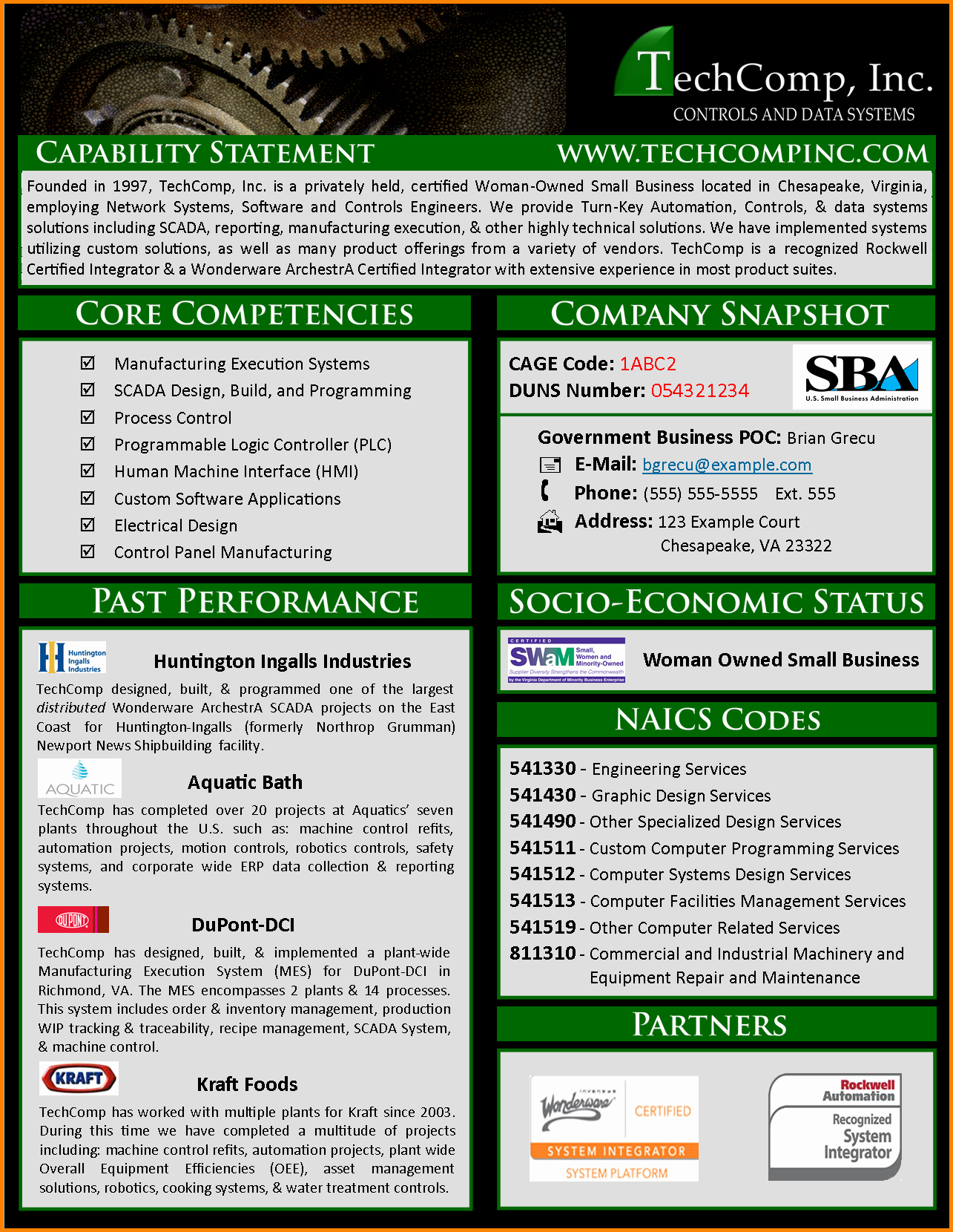 Capability Statement Template Free Awesome 18 Capability Statement Examples