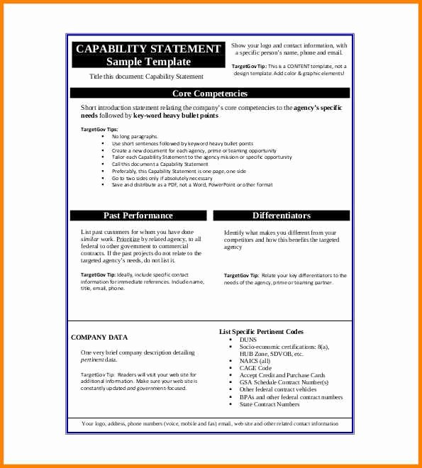 Capability Statement Template Free Beautiful 18 Capability Statement Template Word