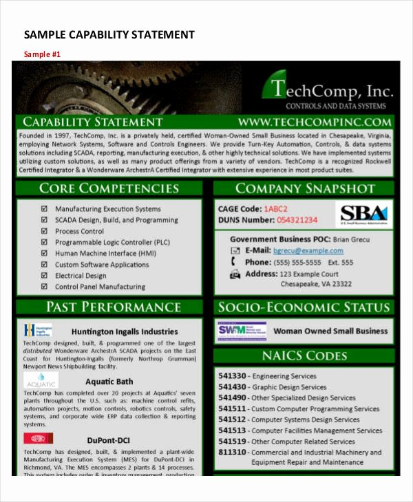 Capability Statement Template Free Inspirational Capability Statement Template 12 Free Pdf Word
