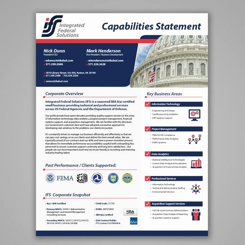 Capability Statement Template Free Unique 11 Best Images About Capabilities Statement On Pinterest
