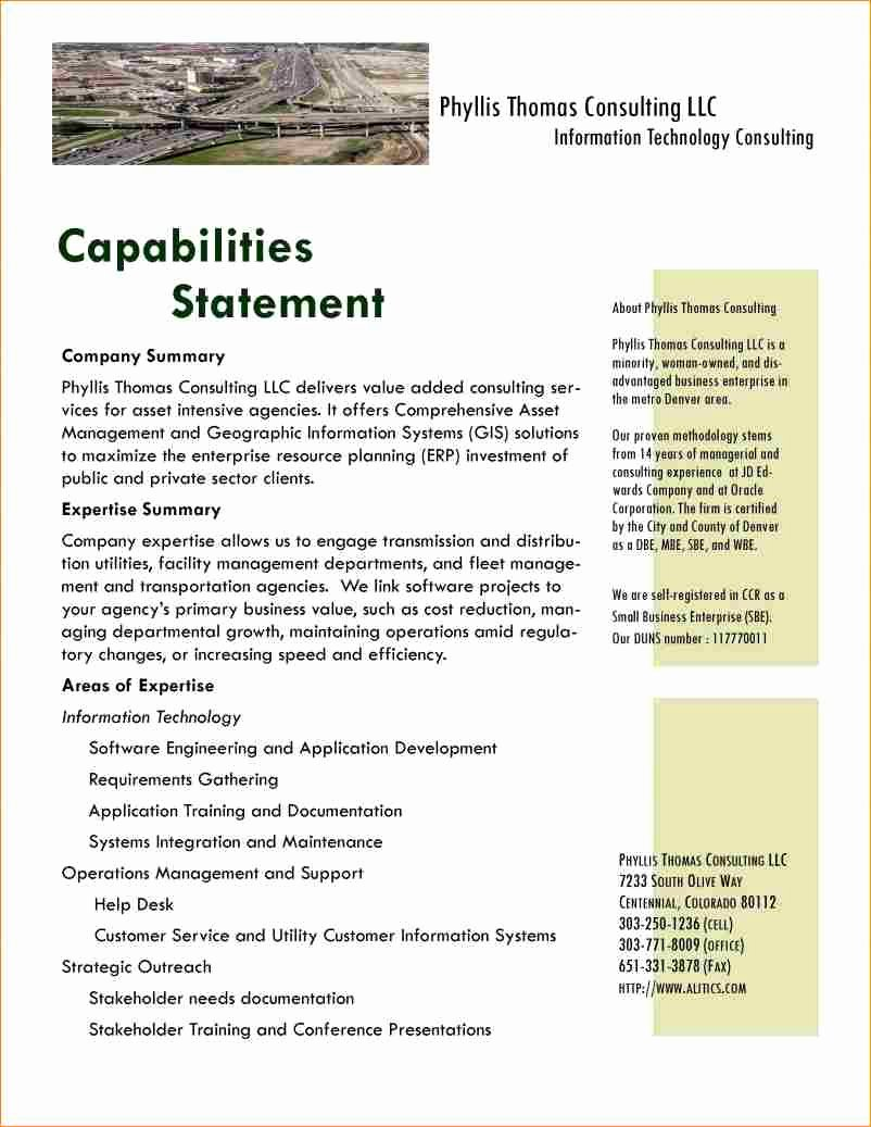 Capability Statement Template Free Unique New Capabilitytement Template Free Image Collections