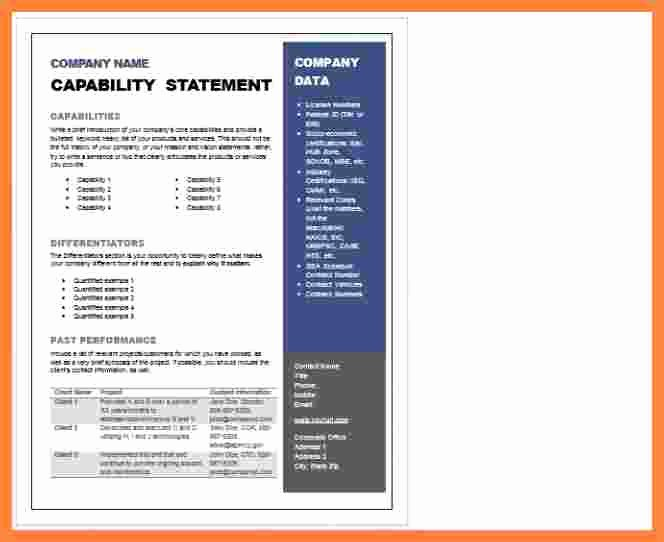 Capability Statement Template Word Best Of 5 Capability Statement Template Word