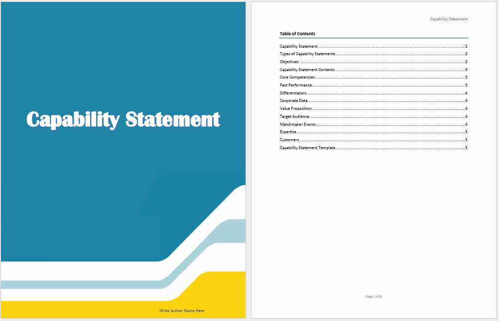 Capability Statement Template Word Unique Capability Statement Template Microsoft Word Templates