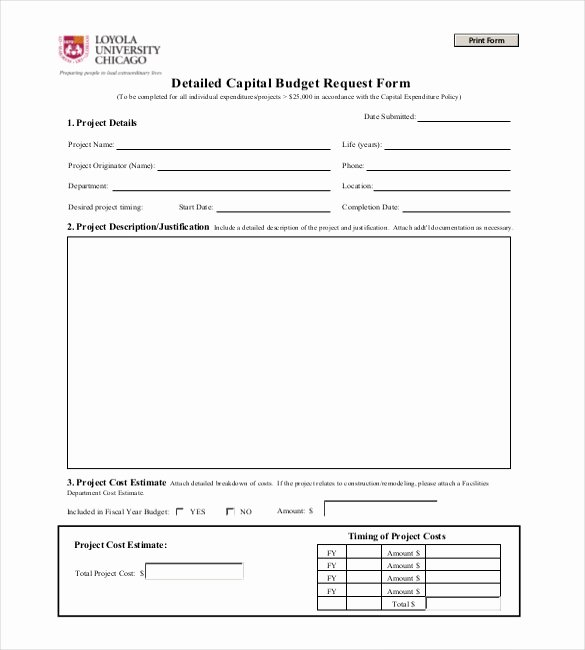 Capital Budget Template Excel Fresh Capital Expenditure Bud Template Excel Capital