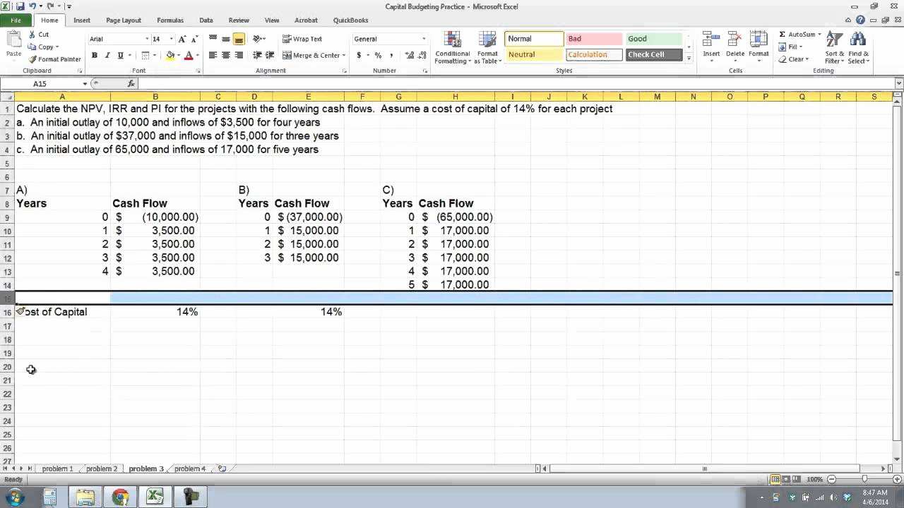 Capital Budget Template Excel Inspirational Overview Of Capital Bud Ing Techniques In Excel