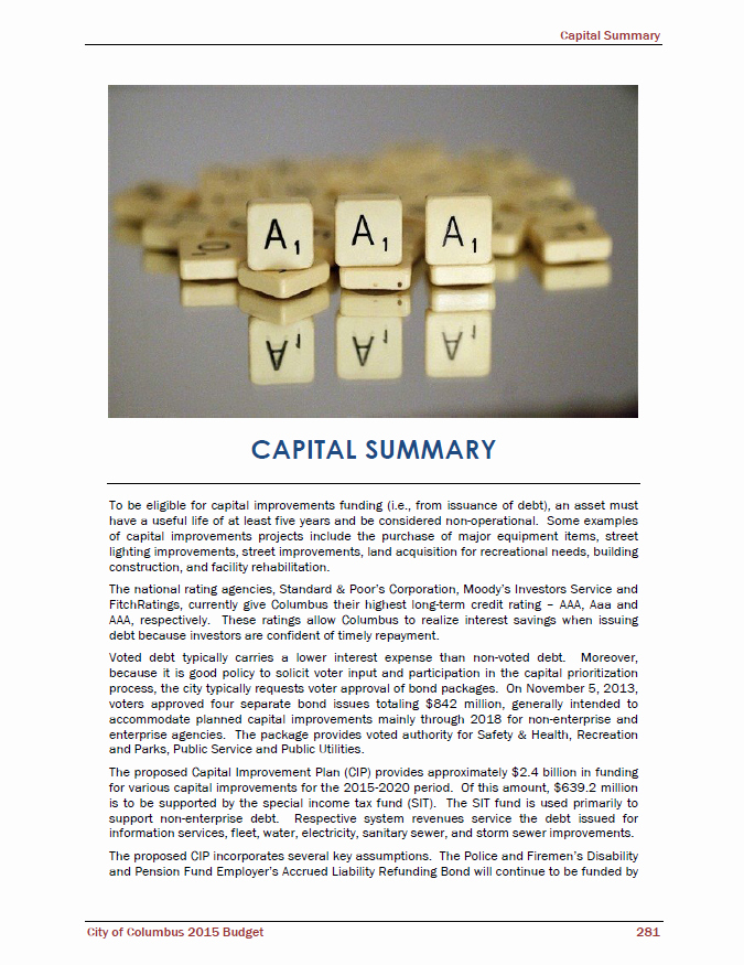 Capital Improvement Plan Template Best Of Fy15 Operating Bud Proposal