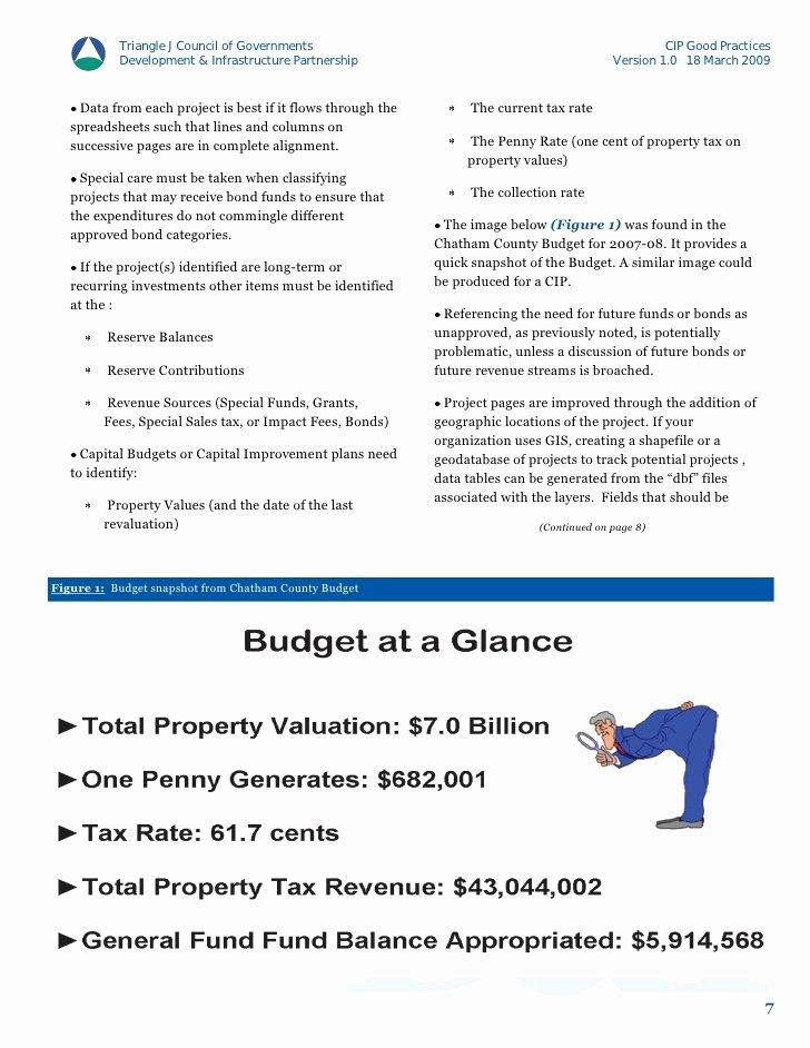 Capital Improvement Plan Template Elegant Cip Template