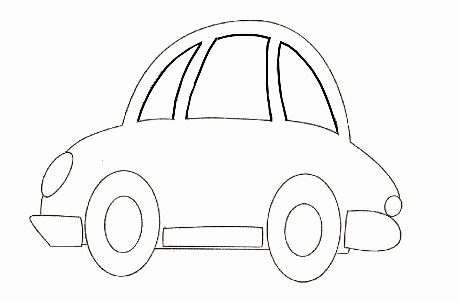 Car Cut Out Template Awesome 6 Best Of Car Template Printable for Kids Car
