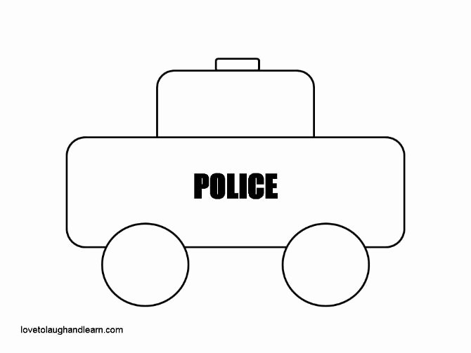 Car Cut Out Template Beautiful 7 Best Of Police Car Template Printable Printable