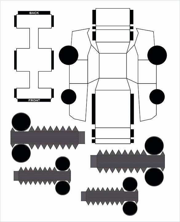 Car Cut Out Template Elegant Papercraft Car Templates – Reflexapp