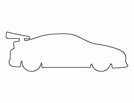 Car Cut Out Template Lovely Race Car Pattern Use the Printable Outline for Crafts