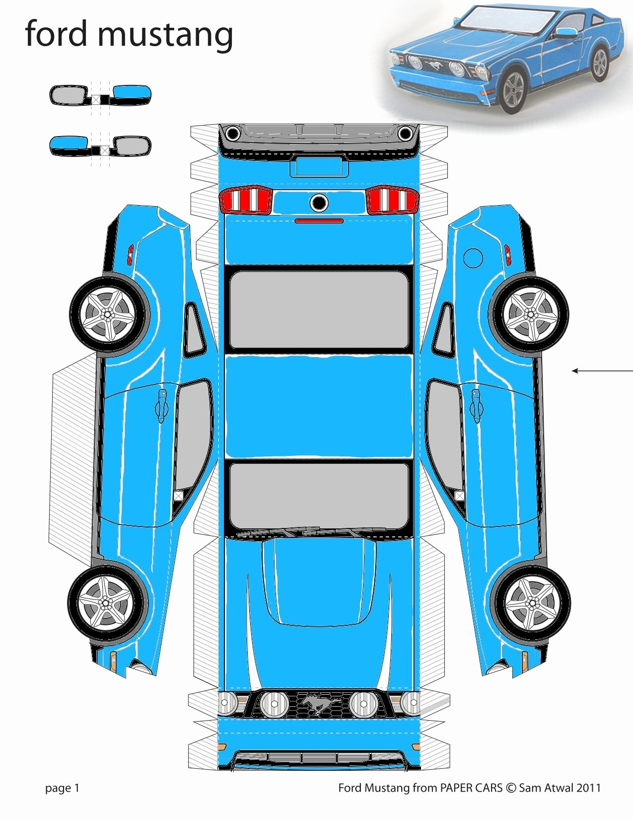 Car Cut Out Template Unique 8 Best Of Printable Paper Cars Paper Plane
