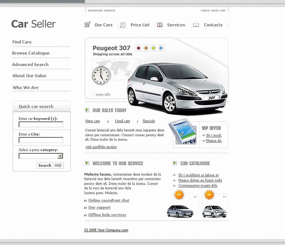 Car Dealer Website Template Awesome Car Dealer Website Template 7934