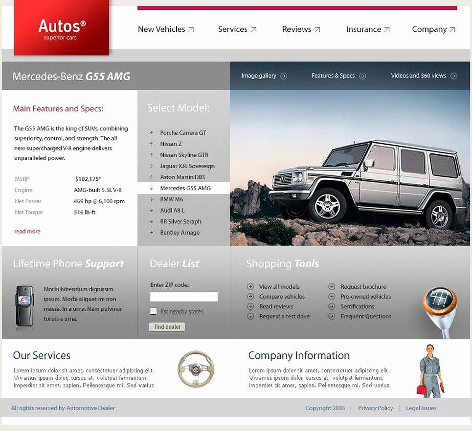 Car Dealer Website Template Awesome Car Dealer Website Template