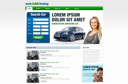 Car Dealer Website Template Awesome Free Car Dealer Website Templates