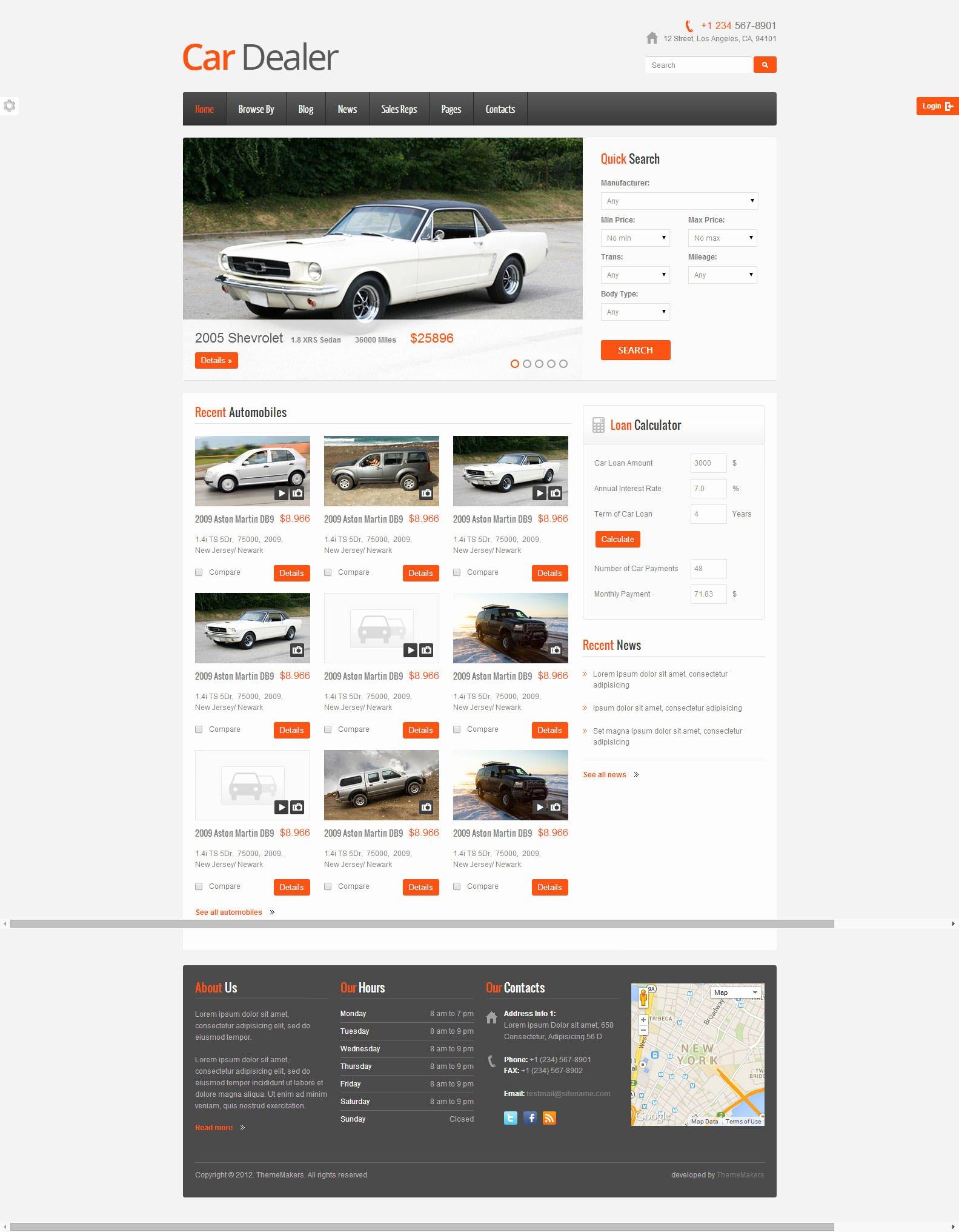 Car Dealer Website Template Beautiful 22 Best Premium Car Website Templates