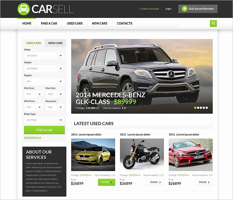 Car Dealer Website Template Beautiful 25 Car Dealer Website themes & Templates