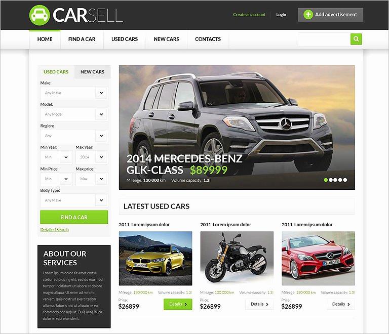 Car Dealer Website Template Beautiful 25 Car Dealer Website themes & Templates