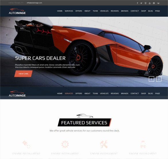 Car Dealer Website Template Beautiful 28 Car Dealer Website themes & Templates