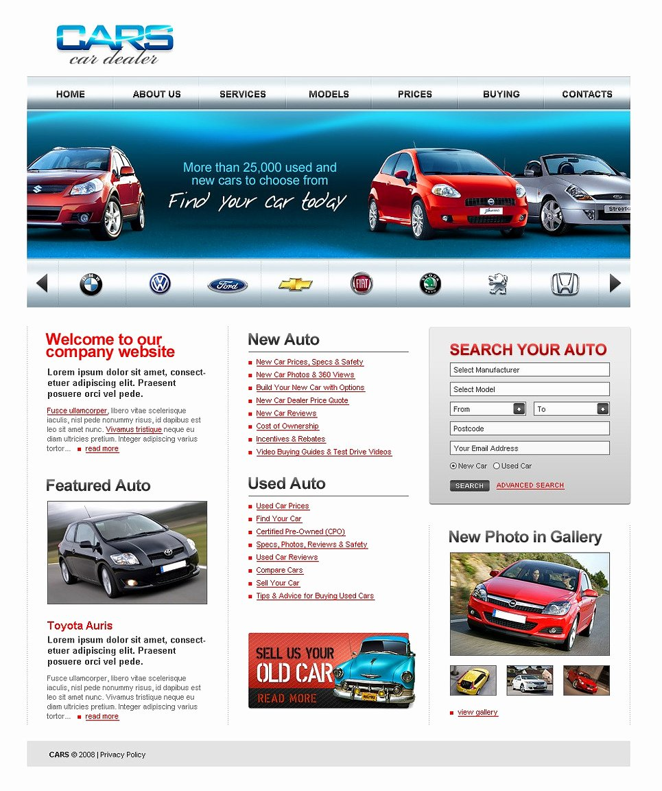 Car Dealer Website Template Beautiful Car Dealer Website Template