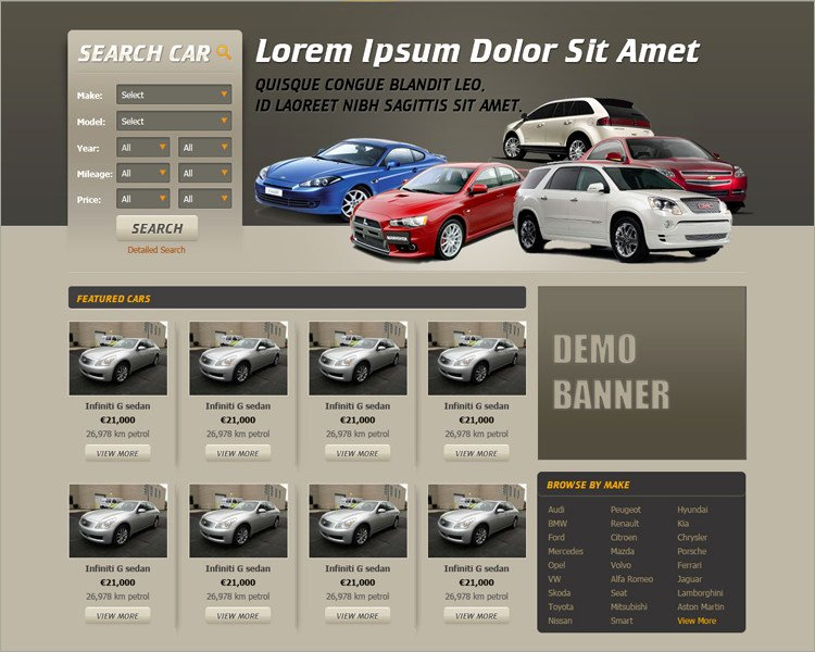 Car Dealer Website Template Best Of 19 Car Dealer Website themes & Templates Free & Premium