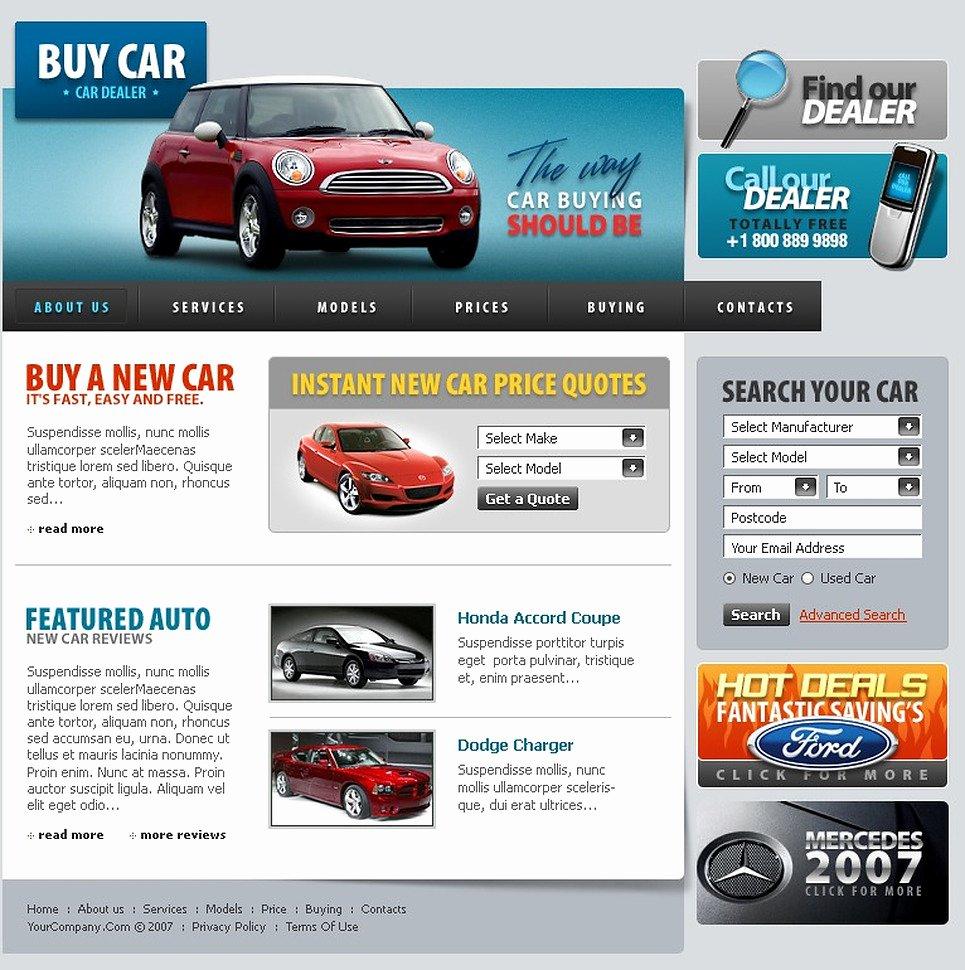 Car Dealer Website Template Elegant Car Dealer Website Template