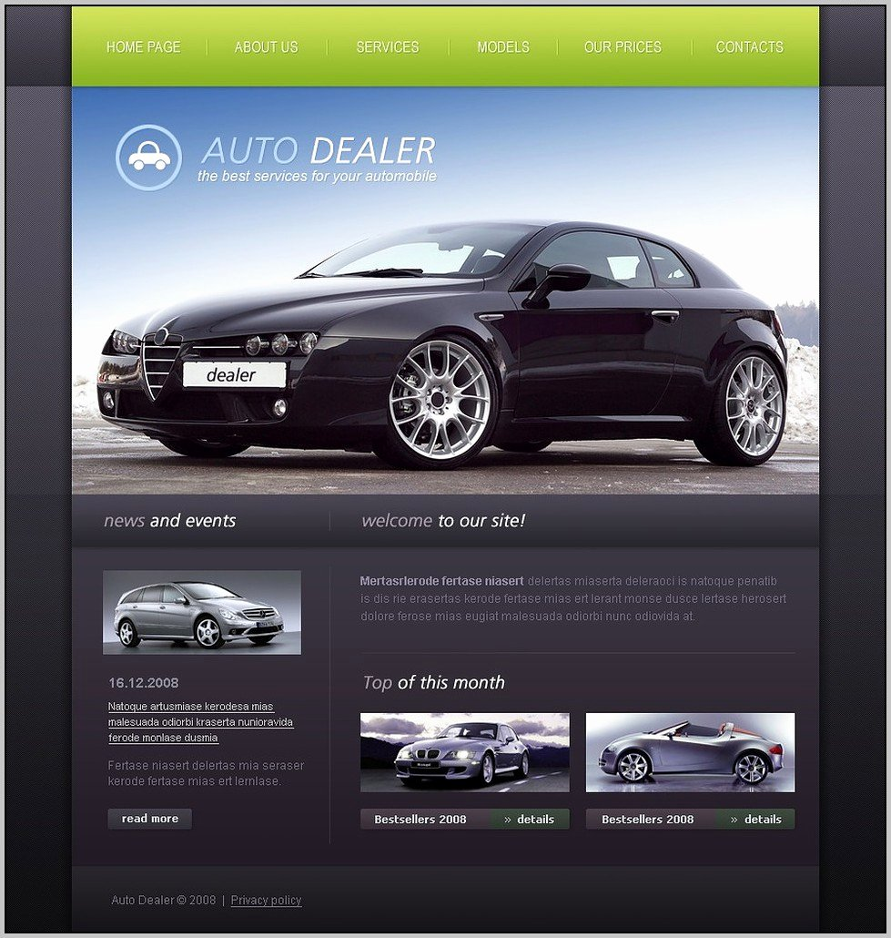 Car Dealer Website Template Fresh Auto Dealer Website Template Template Resume Examples