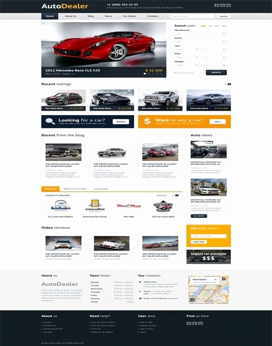 Car Dealer Website Template Fresh Car Dealer Website Template Icebergcoworking