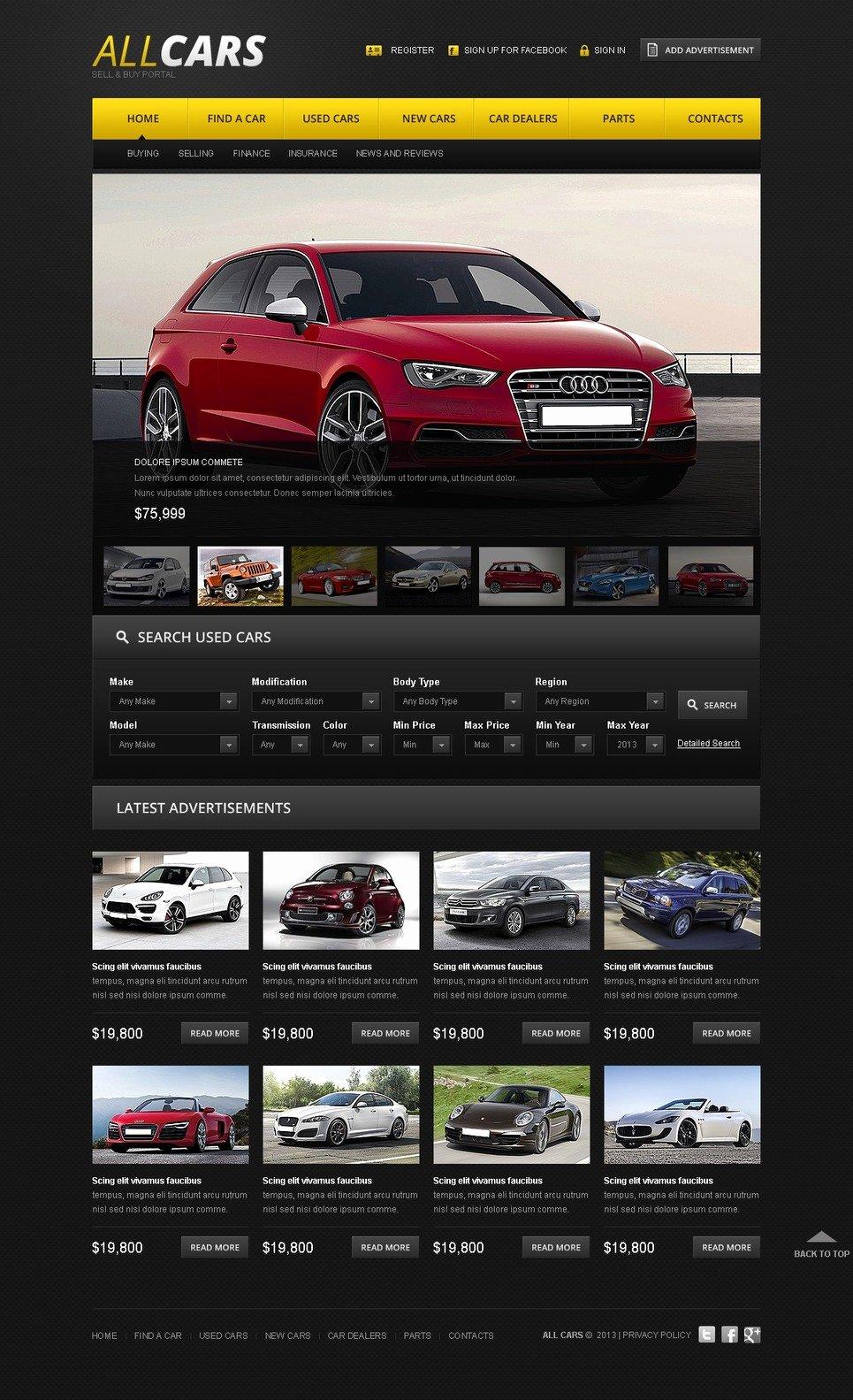 Car Dealer Website Template Inspirational Car Dealer Website Template