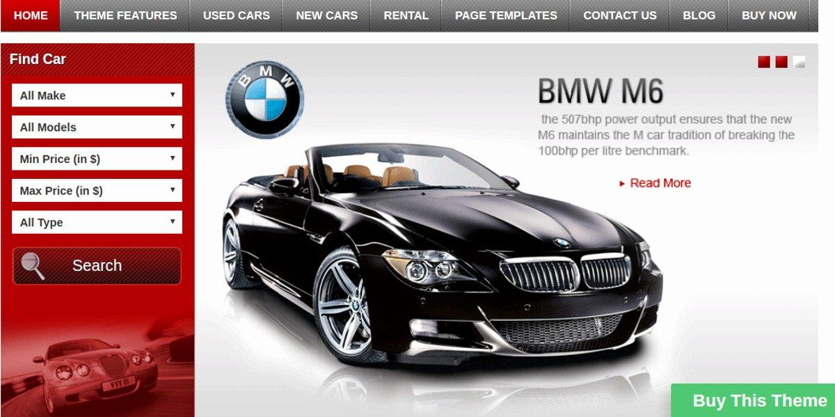 Car Dealer Website Template New 15 Car Dealer Website themes & Templates