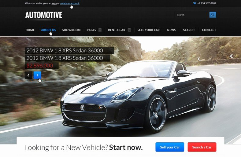 Car Dealer Website Template Unique 25 Car Dealer Website themes & Templates