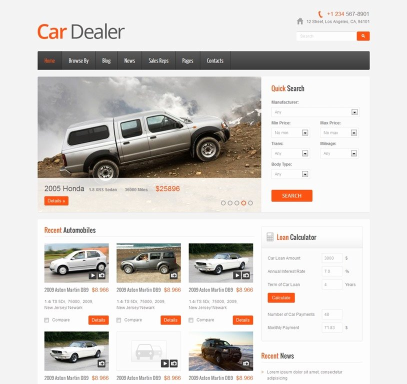 Car Dealer Website Template Unique 30 Great Automotive Wordpress themes and HTML Templates