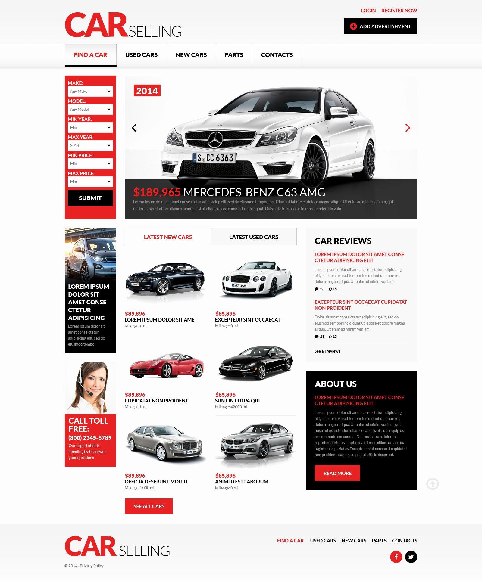 Car Dealer Website Template Unique Car Dealer Responsive Website Template