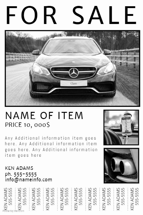 Car for Sale Template Beautiful Free Printable for Sale Flyer with Tear Off Tabs