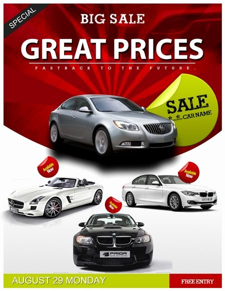 Car for Sale Template Best Of Auto Sales Flyer Template Car Sales Psd Flyer Template