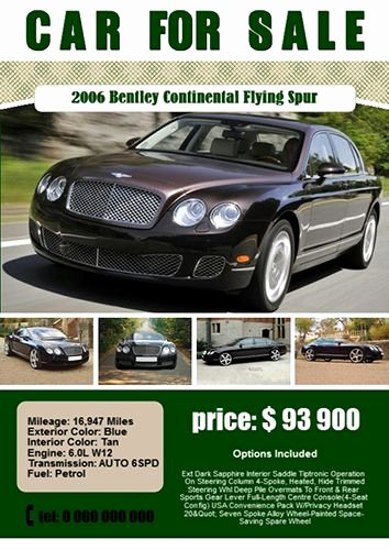 Car for Sale Template Elegant if You Wont to Sell Your Car You Can Print This Poster