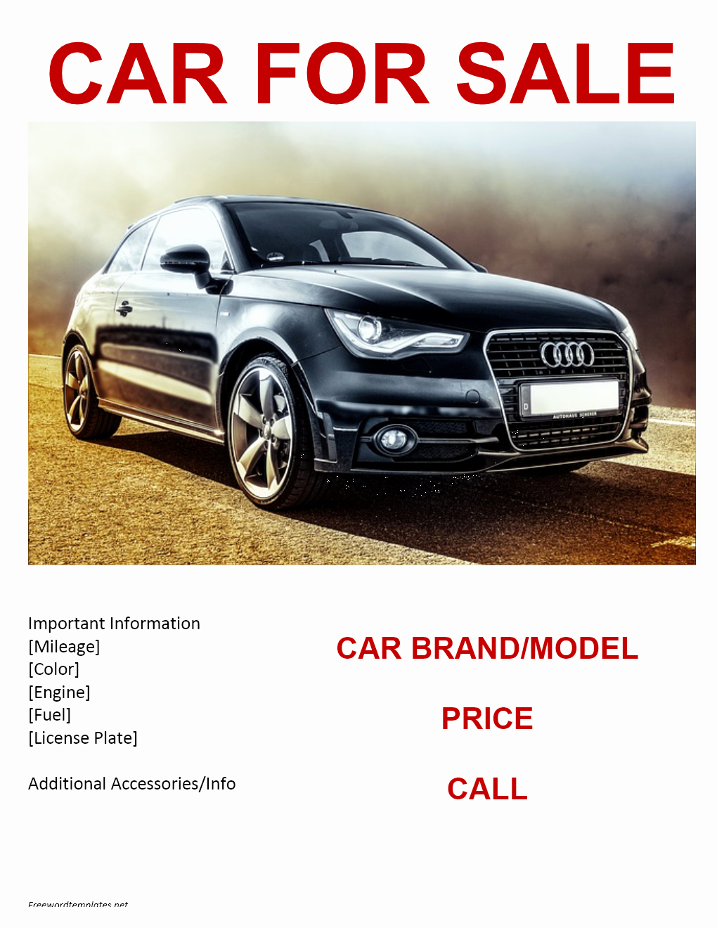 Car for Sale Template Inspirational Car for Sale Flyer Template