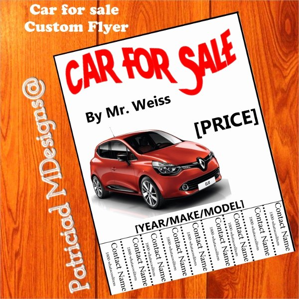 Car for Sale Template Lovely 14 Car for Sale Flyer Templates