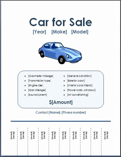 Car for Sale Template Luxury Sample Car for Sale Poster Flyer Template